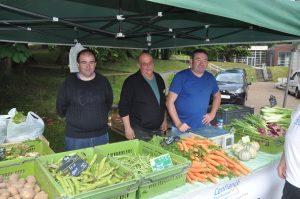 Stand légumes de l'atelier maraichage Kermesse - Actualité