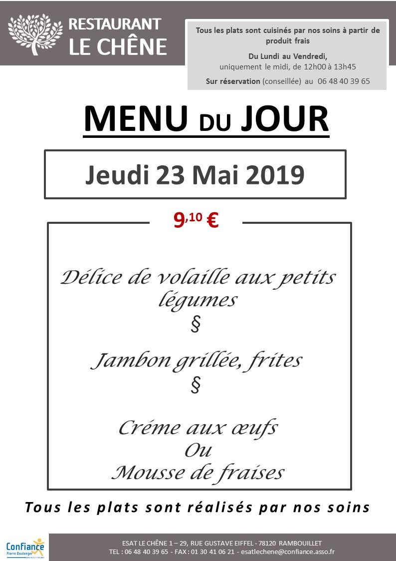 menu du jour 23 05 2019