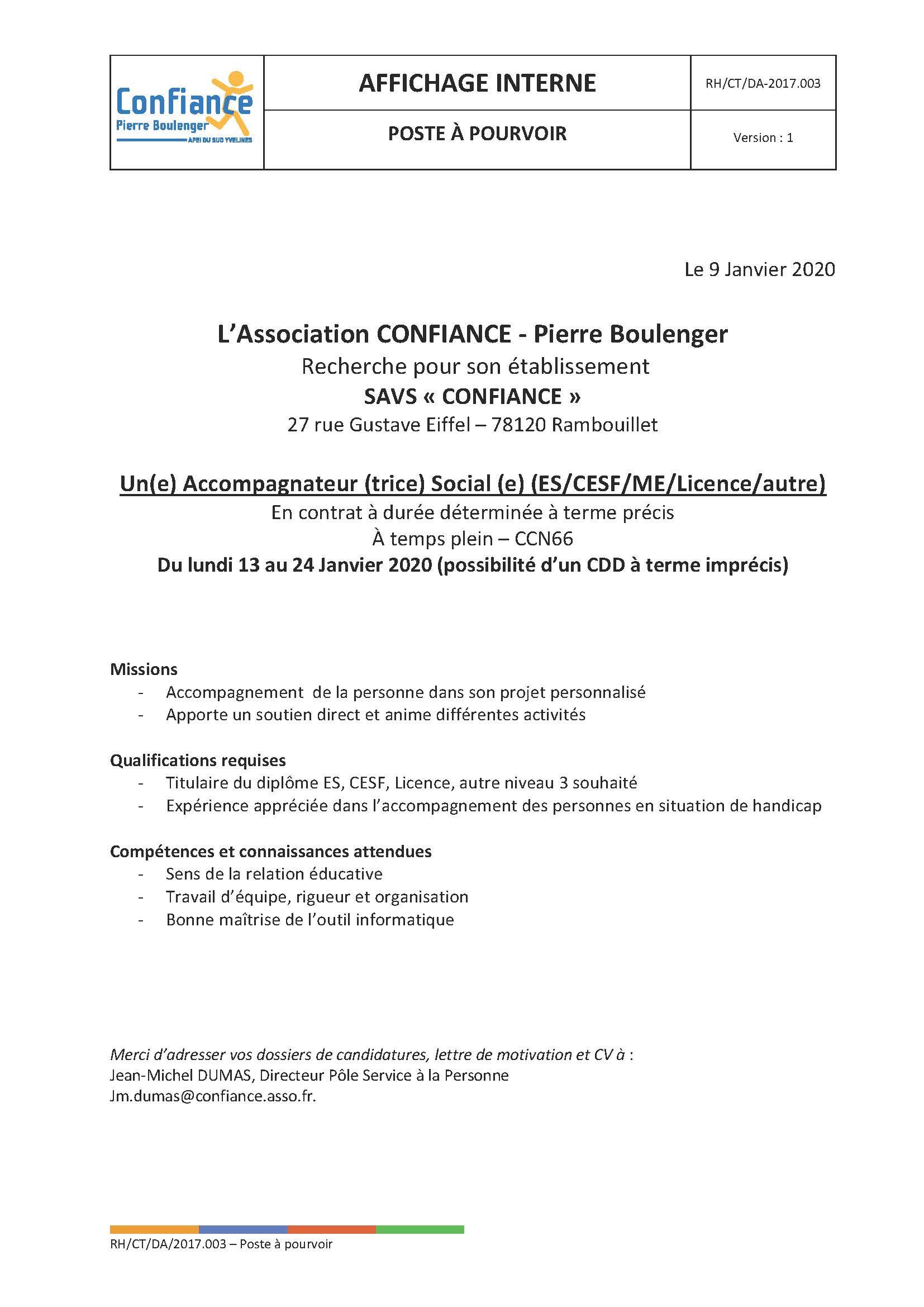 2020-01-13 Pôle Services - Accompagnateur social - ES-CESF