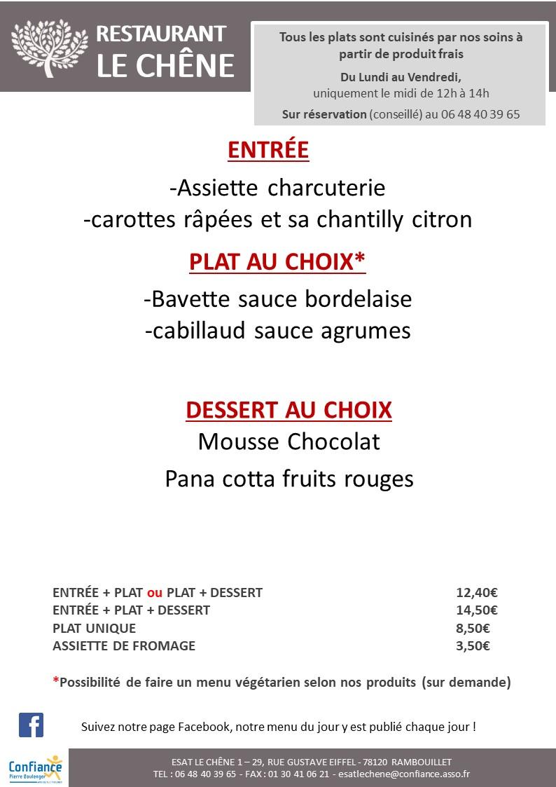 menu CHENE 22 10 2020 2